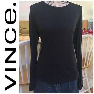 EUC! Vince Navy Soft Long Sleeve Tee Dry Cleaned